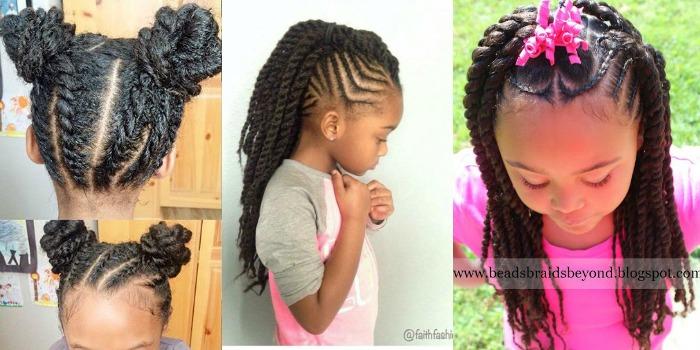 Protective hairstyles kinderen