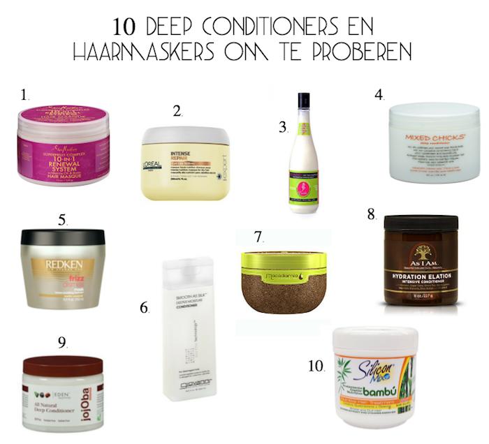 10 deep conditioners en haarmaskers