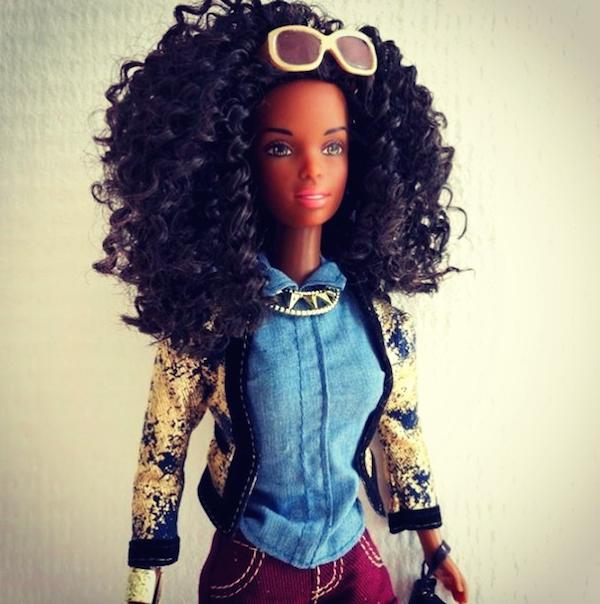 Bruine Barbie Krullen