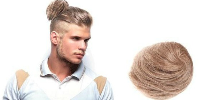 Man clip in bun