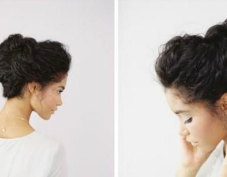Snelle Updo's Voor Krullend Haar
